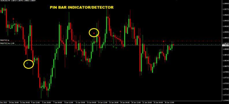 Pin Bar indicator